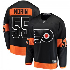 Fanatics Branded Philadelphia Flyers Samuel Morin Alternate Jersey - Black Breakaway