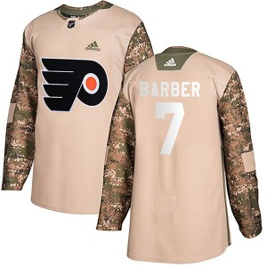 Youth Adidas Philadelphia Flyers Bill Barber Veterans Day Practice Jersey - Camo Authentic