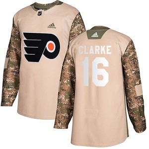 Youth Adidas Philadelphia Flyers Bobby Clarke Veterans Day Practice Jersey - Camo Authentic