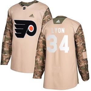 Youth Adidas Philadelphia Flyers Alex Lyon Veterans Day Practice Jersey - Camo Authentic