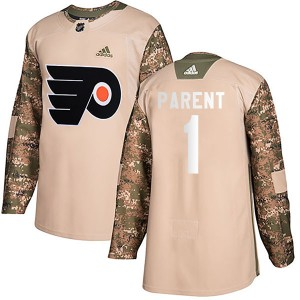 Youth Adidas Philadelphia Flyers Bernie Parent Veterans Day Practice Jersey - Camo Authentic