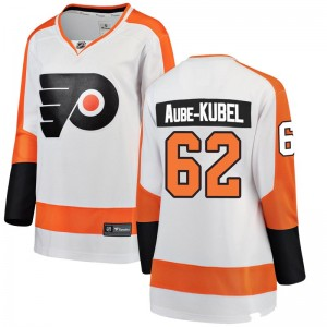 Women's Fanatics Branded Philadelphia Flyers Nicolas Aube-Kubel Away Jersey - White Breakaway