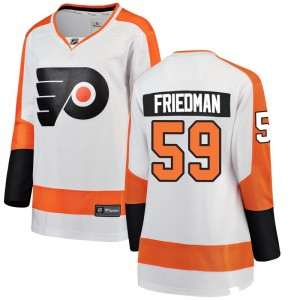 Women's Fanatics Branded Philadelphia Flyers Mark Friedman Away Jersey - White Breakaway