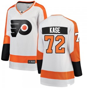 Women's Fanatics Branded Philadelphia Flyers David Kase Away Jersey - White Breakaway