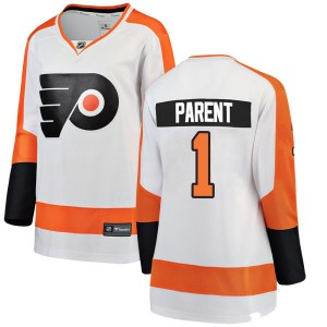 Women's Fanatics Branded Philadelphia Flyers Bernie Parent Away Jersey - White Breakaway