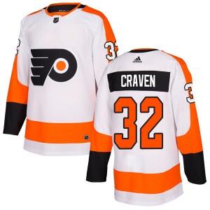 Adidas Philadelphia Flyers Murray Craven Jersey - White Authentic