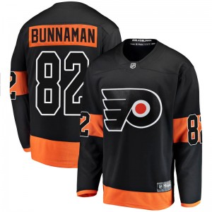 Youth Fanatics Branded Philadelphia Flyers Connor Bunnaman Alternate Jersey - Black Breakaway