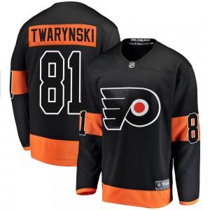 Youth Fanatics Branded Philadelphia Flyers Carsen Twarynski Alternate Jersey - Black Breakaway