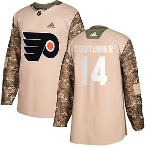 Adidas Philadelphia Flyers Sean Couturier Veterans Day Practice Jersey - Camo Authentic