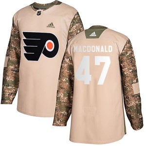 Adidas Philadelphia Flyers Andrew MacDonald Veterans Day Practice Jersey - Camo Authentic