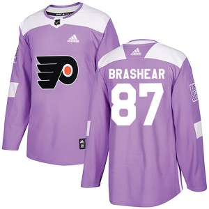 Adidas Philadelphia Flyers Donald Brashear Fights Cancer Practice Jersey - Purple Authentic