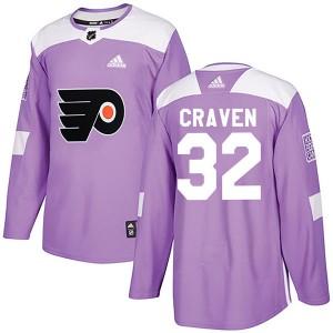 Adidas Philadelphia Flyers Murray Craven Fights Cancer Practice Jersey - Purple Authentic