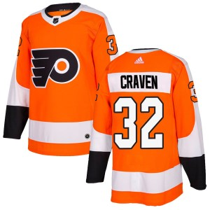 Youth Adidas Philadelphia Flyers Murray Craven Home Jersey - Orange Authentic