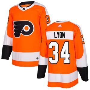 Youth Adidas Philadelphia Flyers Alex Lyon Home Jersey - Orange Authentic