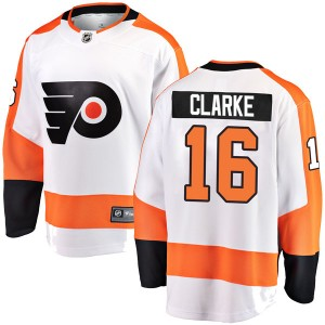 Youth Fanatics Branded Philadelphia Flyers Bobby Clarke Away Jersey - White Breakaway