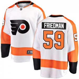 Youth Fanatics Branded Philadelphia Flyers Mark Friedman Away Jersey - White Breakaway