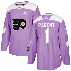 Youth Adidas Philadelphia Flyers Bernie Parent Fights Cancer Practice Jersey - Purple Authentic
