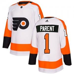 Youth Adidas Philadelphia Flyers Bernie Parent Away Jersey - White Authentic