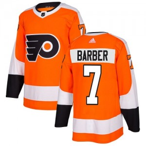Youth Adidas Philadelphia Flyers Bill Barber Home Jersey - Orange Authentic