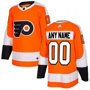 Youth Adidas Philadelphia Flyers Custom Home Jersey - Orange Authentic