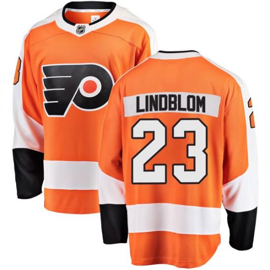 Youth Fanatics Branded Philadelphia Flyers Oskar Lindblom Home Jersey - Orange Breakaway