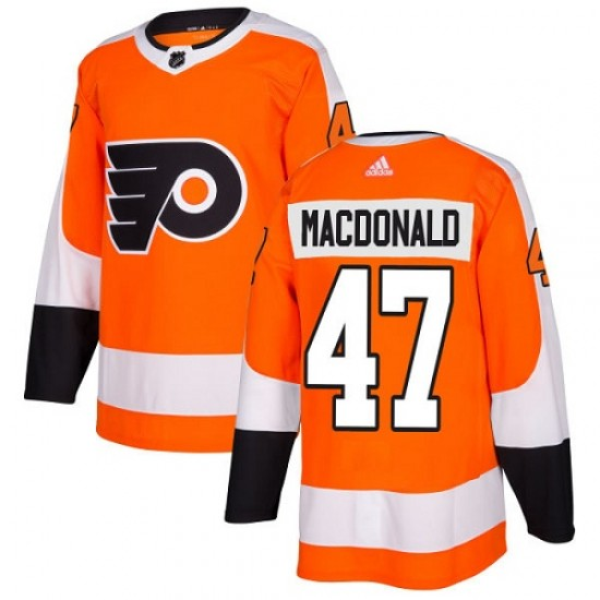 Youth Adidas Philadelphia Flyers Andrew MacDonald Home Jersey - Orange Authentic